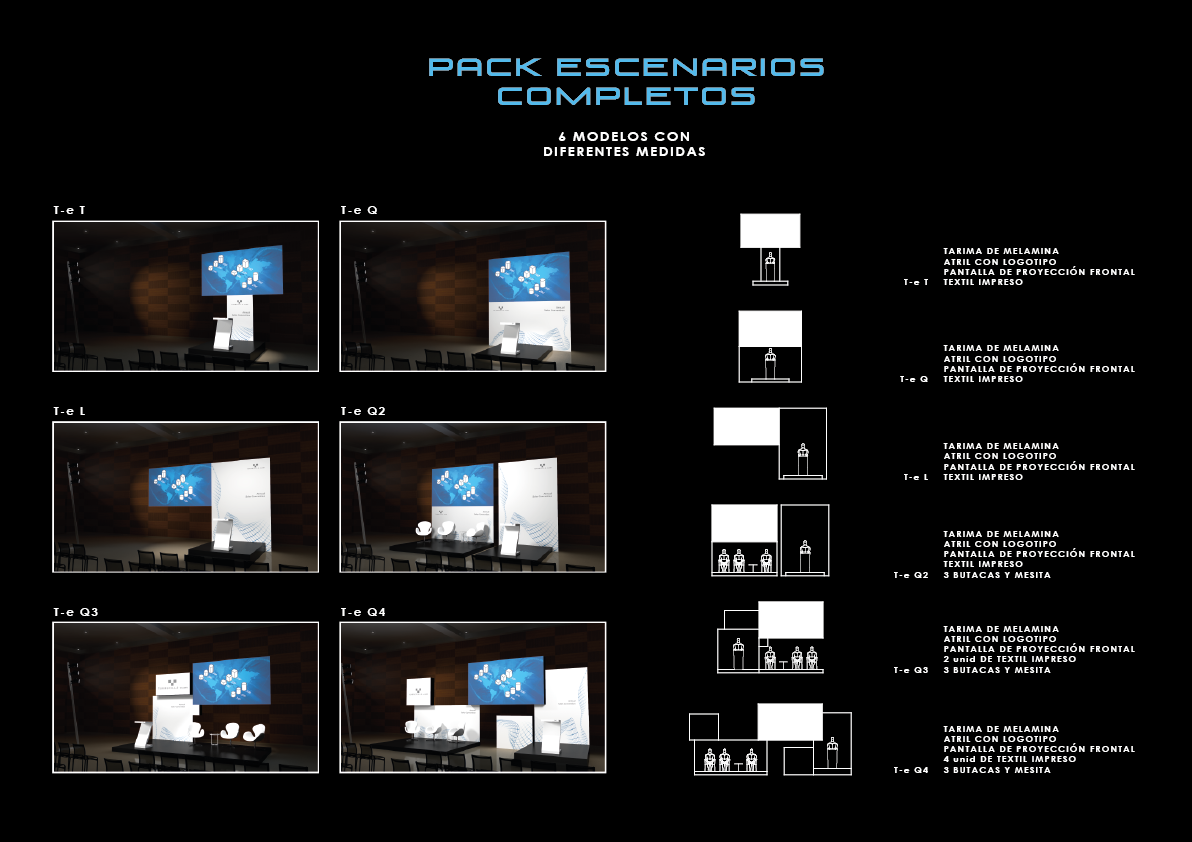 Pack escenarios completos